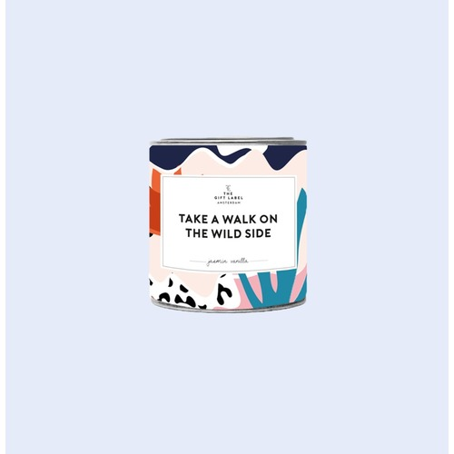 Walk Wild Side Candle Tin 90g - Fresh Cotton