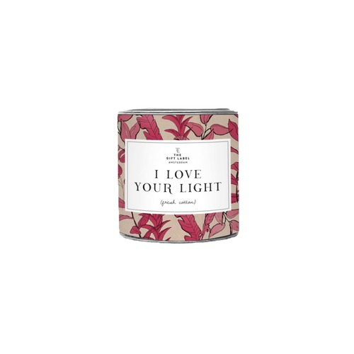 I Love Your Light Candle Tin 90g - Jasmine Vanilla