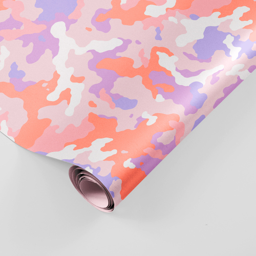 Camouflage gift wrap roll
