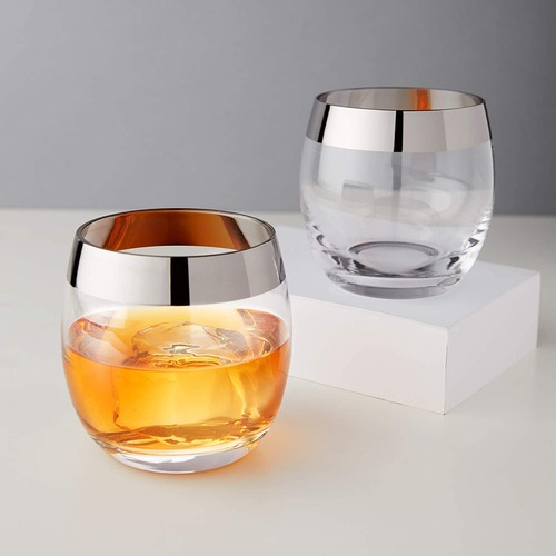 Irving™ Chrome Rim Tumbler Set by Viski BO8/10