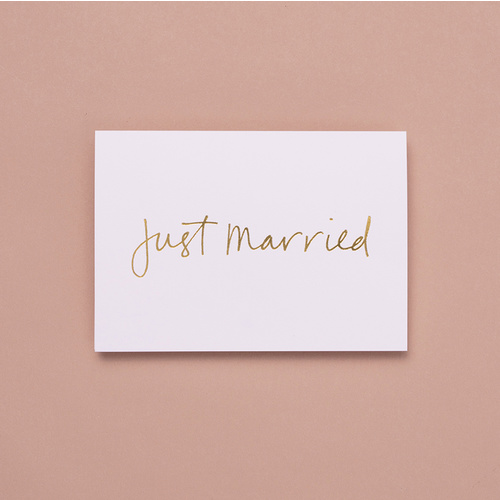 JUST MARRIED D