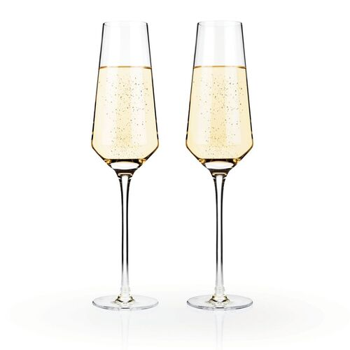 Raye Crystal Champagne Flutes (Set of 2)by Viski - BO 23/04