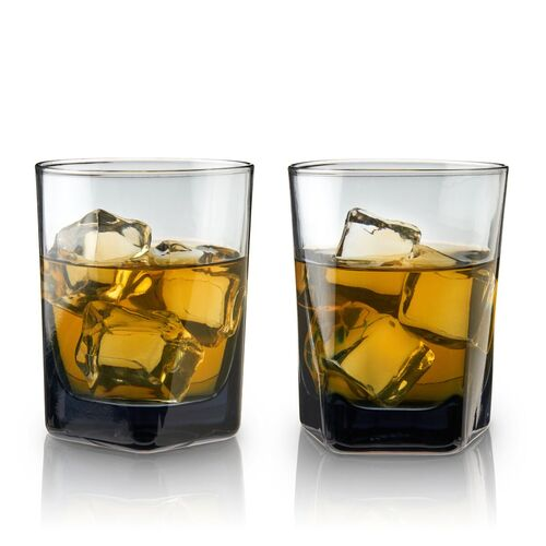 Warren: SMOKE DOUBLE OLD FASHIONED GLASSES - Set of 2