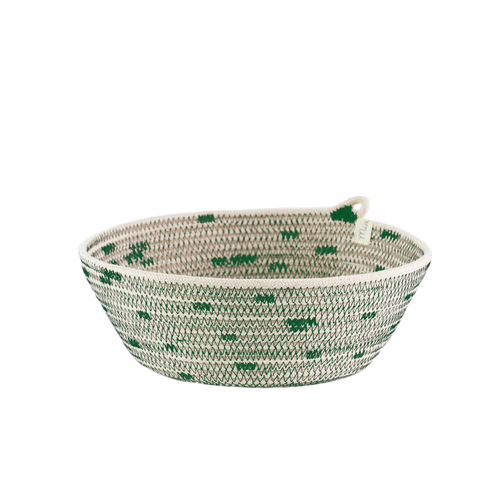 Greenery Stitched Bowl Medium