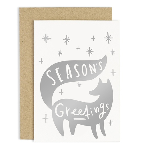 Season Greetings Fox Card