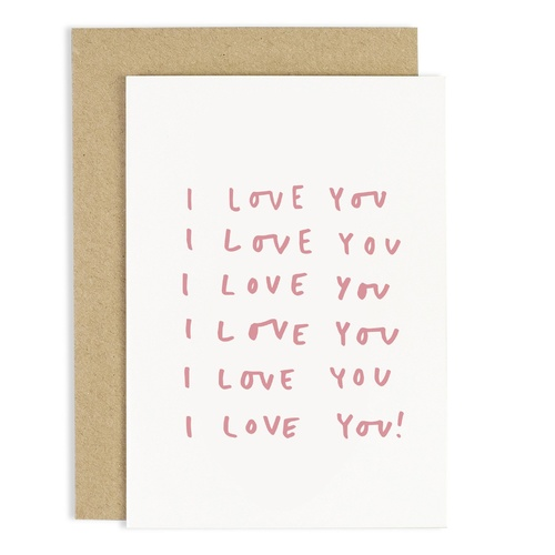 I Love You Repeated Card