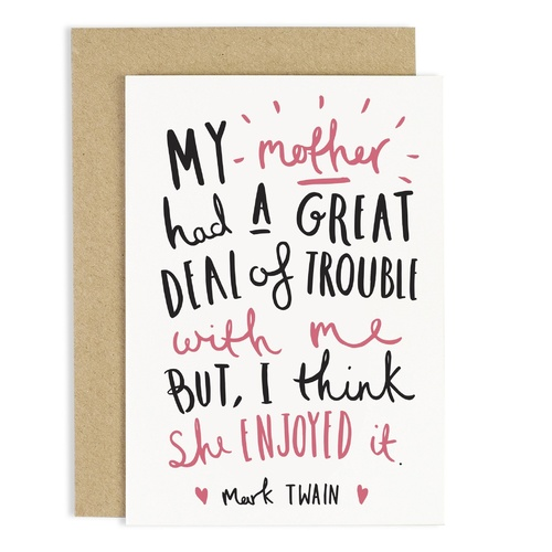 Mark Twain Mum Quote Card
