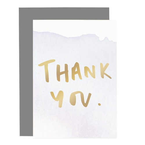 Thank You - Ombre Card