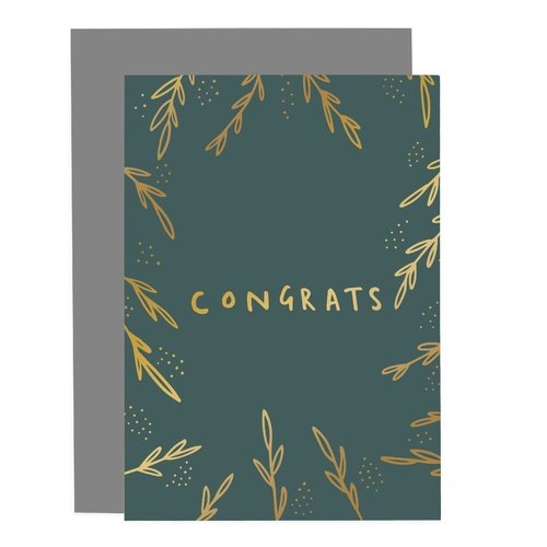 Congrats Greenery Card