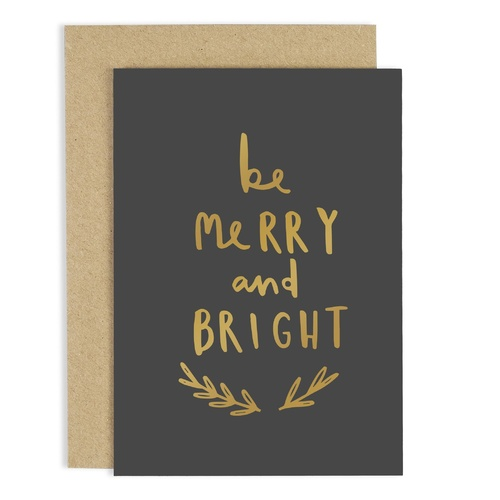 Be Merry Be Bright Card