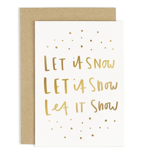 Let Is Snow Card