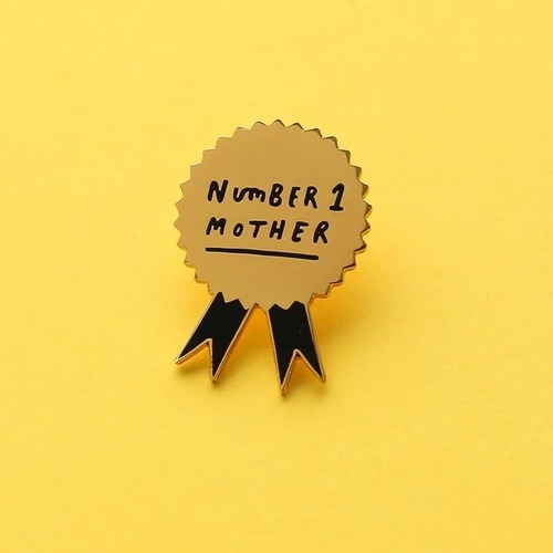 Number 1 Mother Enamel Pin