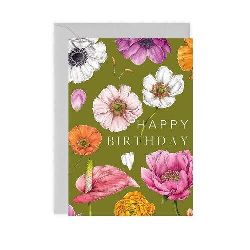 Floral Brights - Happy Birthday