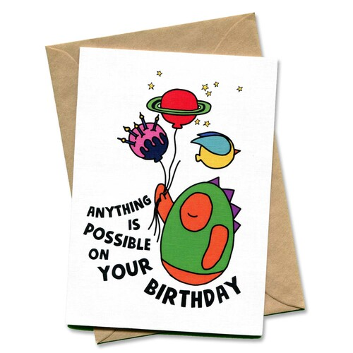 Anything Is Possible On Your Birthday Kid's Card