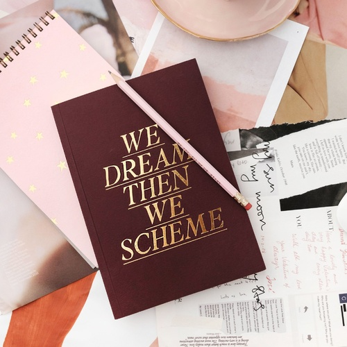 We Dream, We Scheme Linen Journal