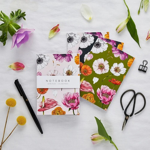 A6 Notebook Set - Floral Brights