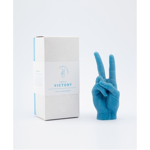 """Victory"" Candle Hand Gesture Blue"