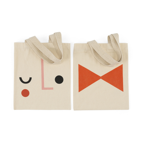 PANTOMIME MINI-CANVAS BAGS - WINK/BOW